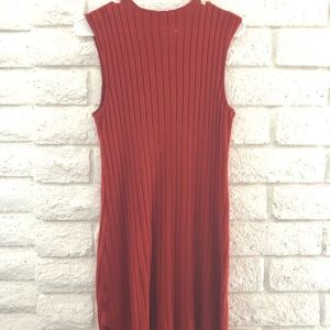 RVCA Sweater Dress, Burnt Orange, Size Medium